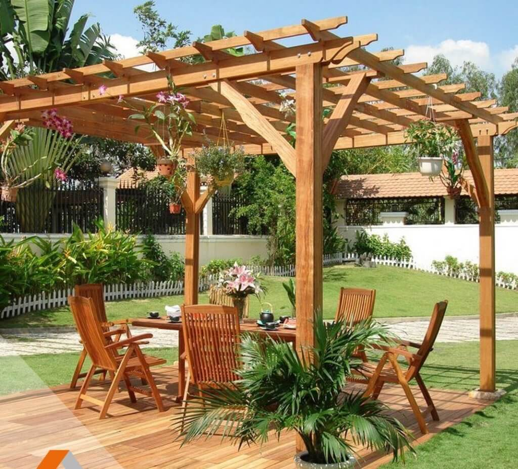 Pergola bois france for Photo pergola bois