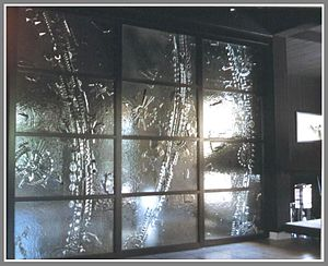 porte coulissante au plafond